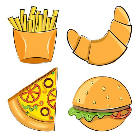 fast food. Vector illustration. set of objects Vector