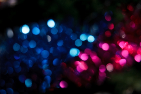 Abstract christmas background. Holiday colored lights unfocused Banco de Imagens