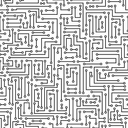 シームレスな抽象的な電子背景をベクトルします。電子基板パターン
