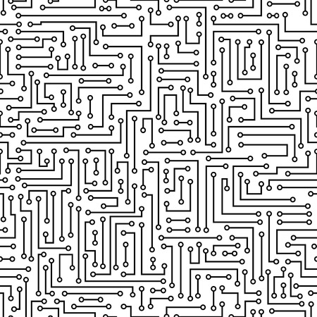 electronic board: vector seamless abstract electronic background. Electronic board pattern Illustration