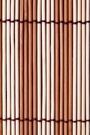 striped bamboo napkin. macro texture background. vertical photo