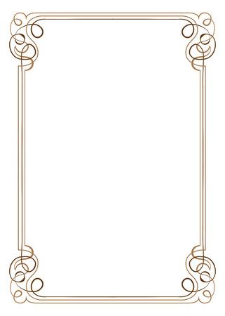 lineas verticales: Marco de la vendimia, vertical, vector de varias capas con remolinos