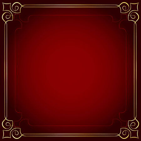 Beautiful vector frame on a red background Vector