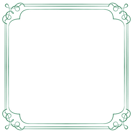 multilayer: Vintage multilayer square vector frame with swirls