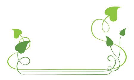 foliate:  green foliate elements for design page. frame Illustration