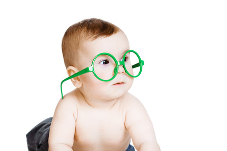 Little baby boy in the big funny glasses.  photo