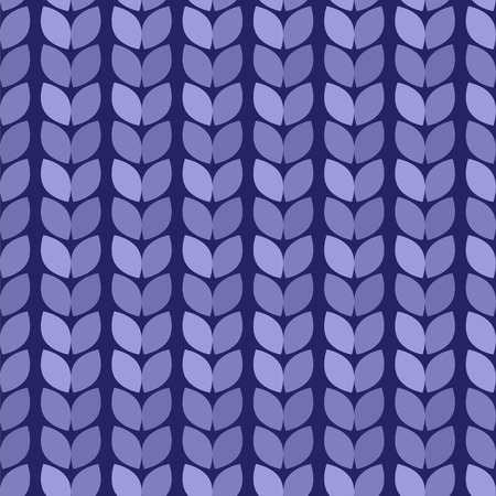 Vector illustration. Seamless background. Knitted blue surface Vector
