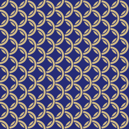 Vector blue background with intertwined rings. Seamless hauberk