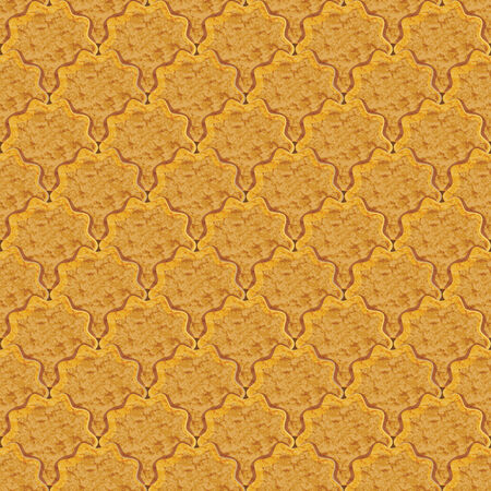 Rasterized graphic seamless background of cookies crackers photo