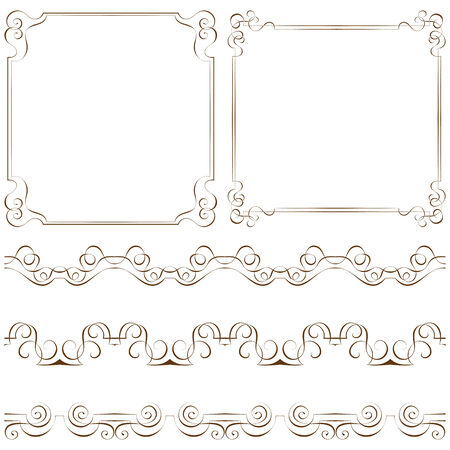 Set of elegant frames and borders Vector