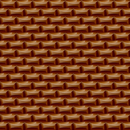 Seamless surface big chocolate. Delicious brown background Vector