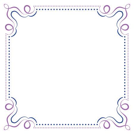 multilayer: Multilayer vector violet blue elegant square frame