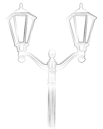 streetlight: Streetlight illustration on white background Illustration