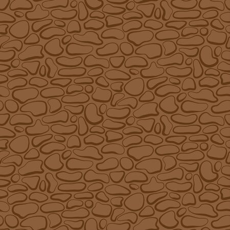 Vector drawing. Seamless stone wall. brown pattern Vector