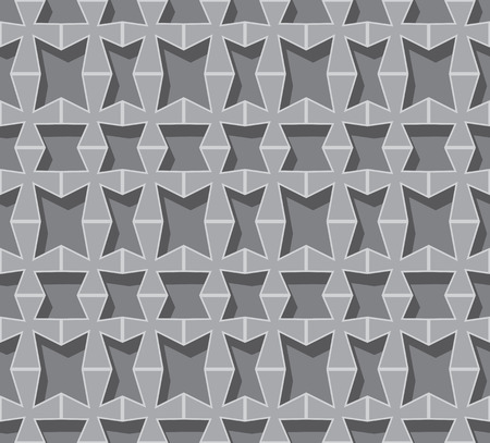 volumetric: Rejilla volum�trica gris de formas geom�tricas