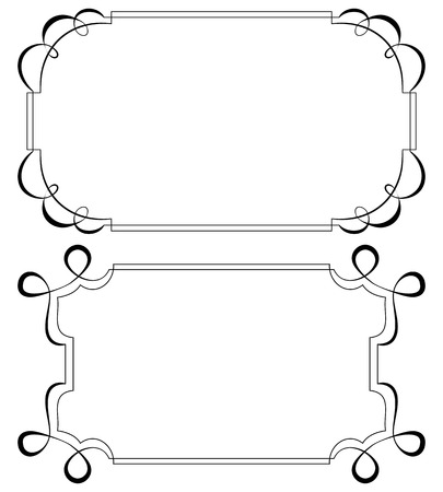Two vintage horizontal frame. Set for design Vector