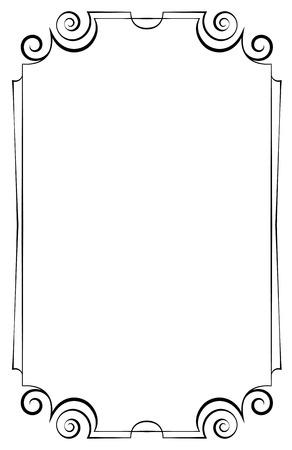 Elegant vector vertical frame on a white background Vector