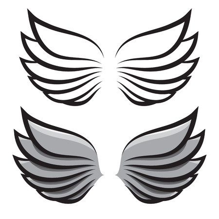 two pairs of wings Vector