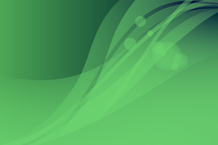 abstract waves: Vector green abstract background. Waves and glare