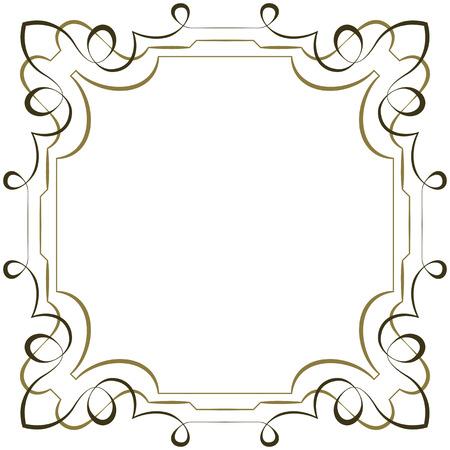 multilayer: Vector marco elegante multicapa cuadrado sobre fondo blanco