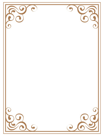 vector frame with brown patterns on a white background