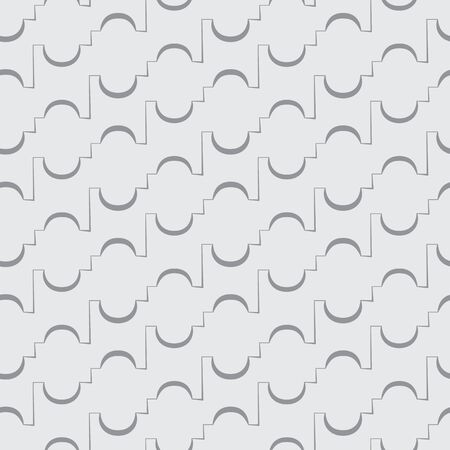 quadrati astratti: Vector seamless piazza astratto sfondo grigio con un modello