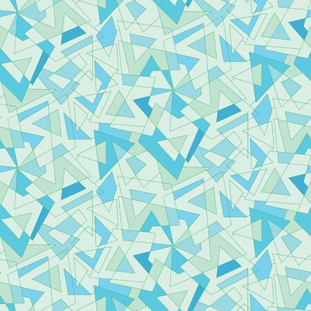 Vector blue mosaic abstraction. Seamless multicolored background Vector
