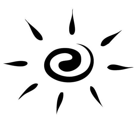 Vector graphics. Sketch. sun on a white background. icon Vector