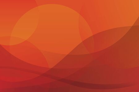 Vector abstract red-yellow background. The desert and the sun Vector