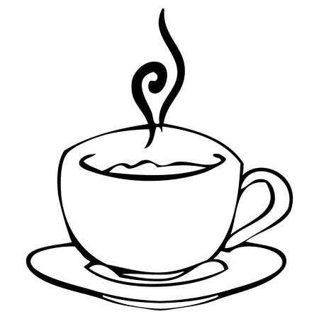 Vector graphics. Sketch. Cup with hot drink Vector
