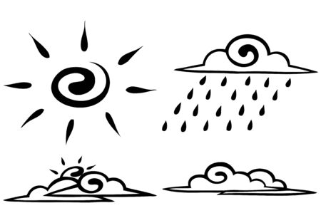 Vector. Sketch. Set. forecast on a white background. icon Vector