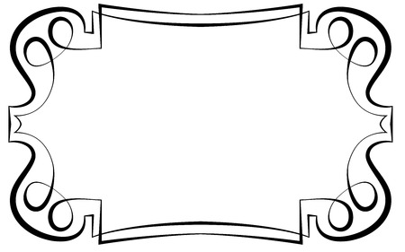 Vector of beautiful elegant framework for design Çizim