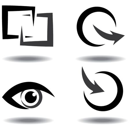 icon set for download and upload, view Vector