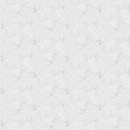 chaotic: Grey seamless wallpaper with floral pattern chaotic