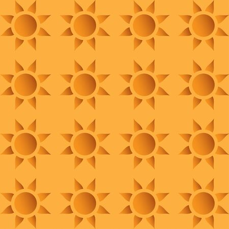 suns: Vector seamless wallpaper with repeating suns Illustration