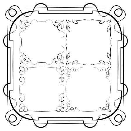 delicate: vector delicate frames. Set on a white background