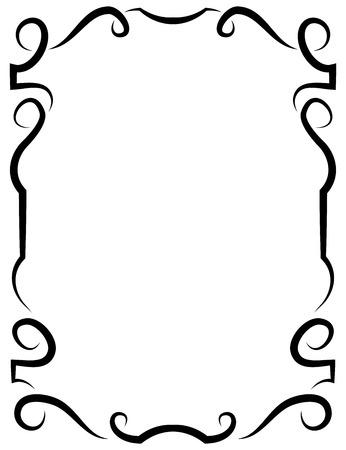 Vector of beautiful elegant framework for design Illustration