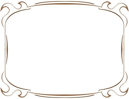 multilayer: M�ltiples capas de vector elegante marco de color marr�n sobre un fondo blanco