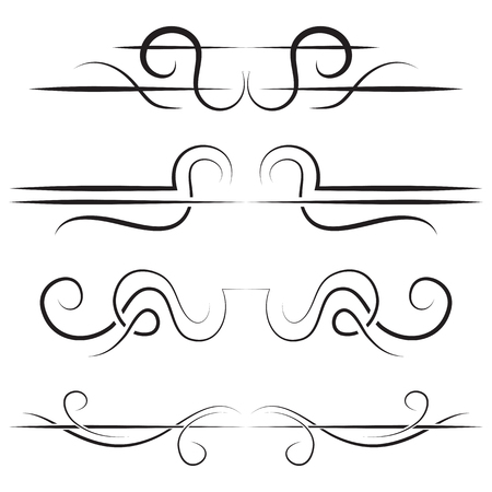 simple border: Vector set of elegant borders. Black on a white background