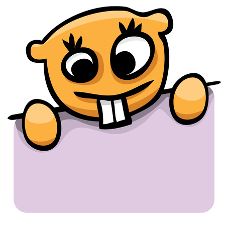 gopher: Vector cartoon gopher with a purple banner