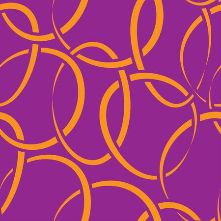 intertwined: Vector seamless purple wallpaper with intertwined rings