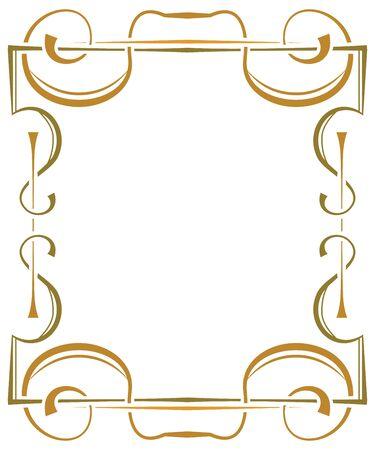 multilayer: Multilayer vector ornate frame on a white background Illustration