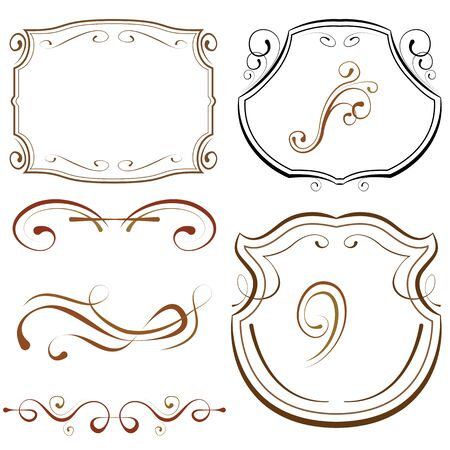 decorative border: vector illustration. set of elements for design. decorative borders and frames