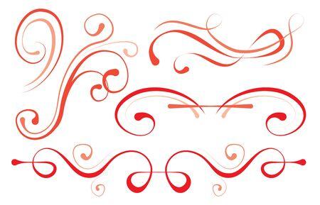 illustration vectorielle ensemble d'éléments pour la conception. bordures décoratives