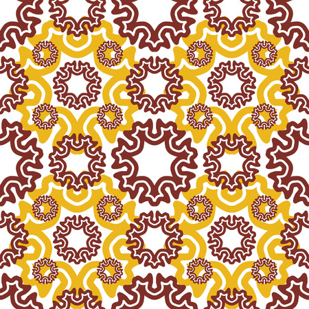 motley: Vector seamless wallpaper. Motley retro repeating pattern. The yellow brown pattern Illustration