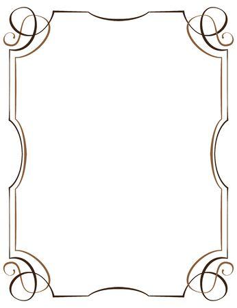 multilayer: Vintage multilayer vertical frame with swirls Illustration