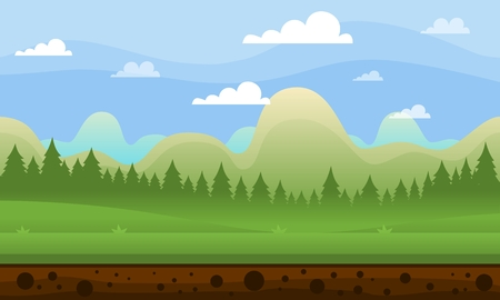 Mountain illustration for video game background