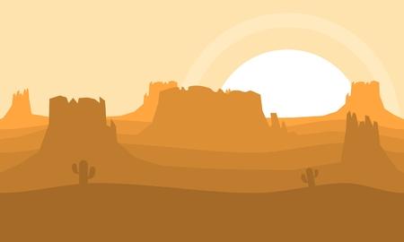 Illustration de l'image du désert occidental pour les jeux vidéo