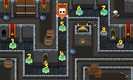 medieval dungeon game level map background