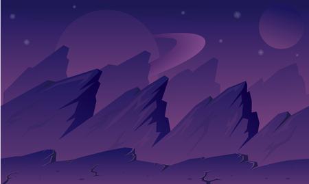 purple alien planet game background